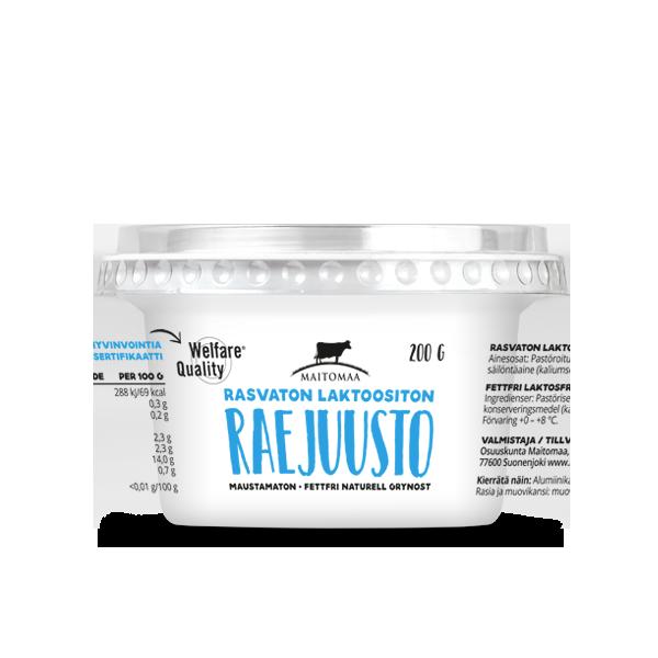 Raejuusto 200g rasvaton laktoositon