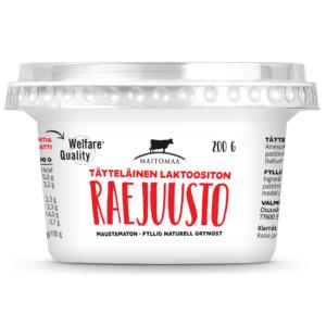 Täyteläinen laktoositon raejuusto 200 g